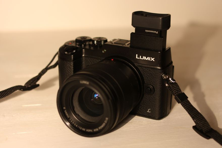 Panasonic Lumix DMC-GX8 with tilted viewfinder